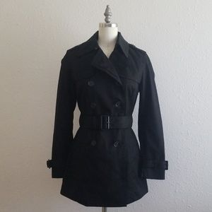 New Banana Republic Black Trenchcoat Jacket